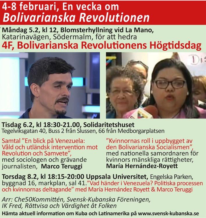 en vecka för Bolivarianska RevolutionenR
