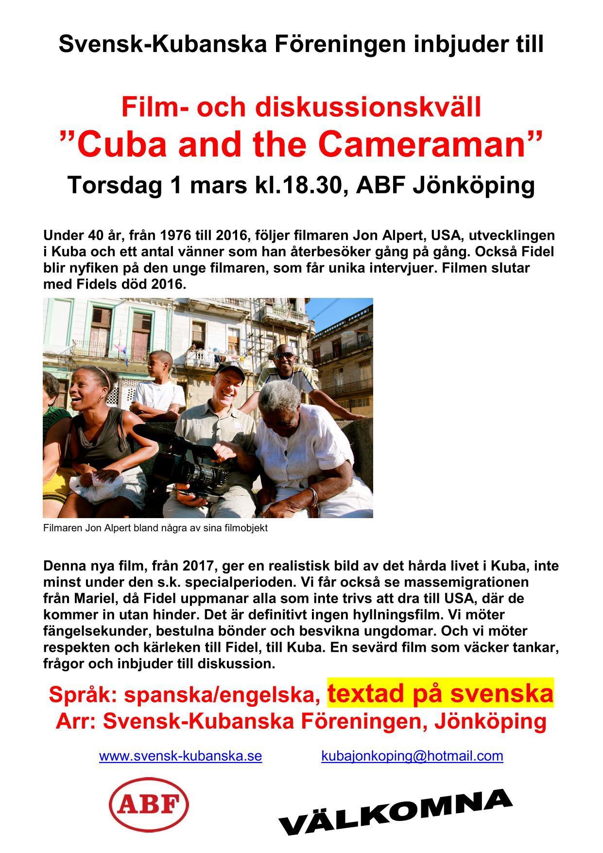 Cuba_Cameraman_filmaffisch