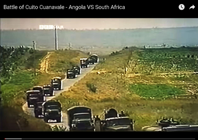 The Battle of Cuito Cuanavale in 1987/88 posted on Youtube