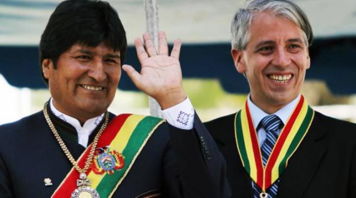 Evo Morales y Álvaro García Linera