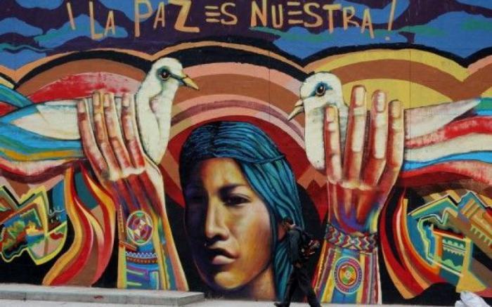 Obra del muralista Oscar González