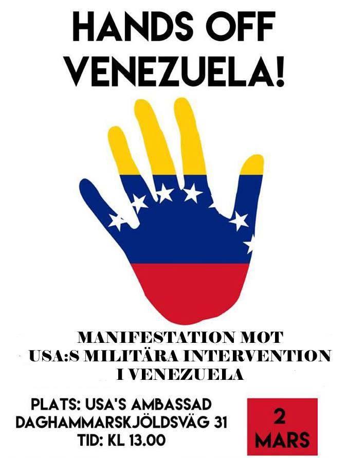 2 mars – Hands off Venezuela