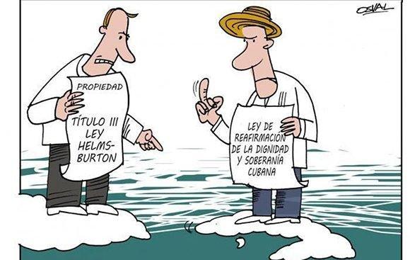 Helms Burton cartoon Osval