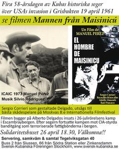 filmaffisch Mannen från Maisinicú