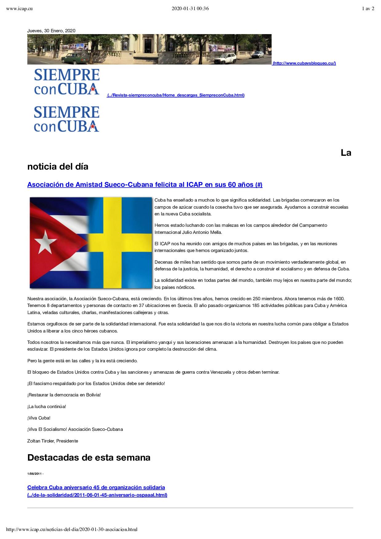 ICAP 60 años – www.icap.cu