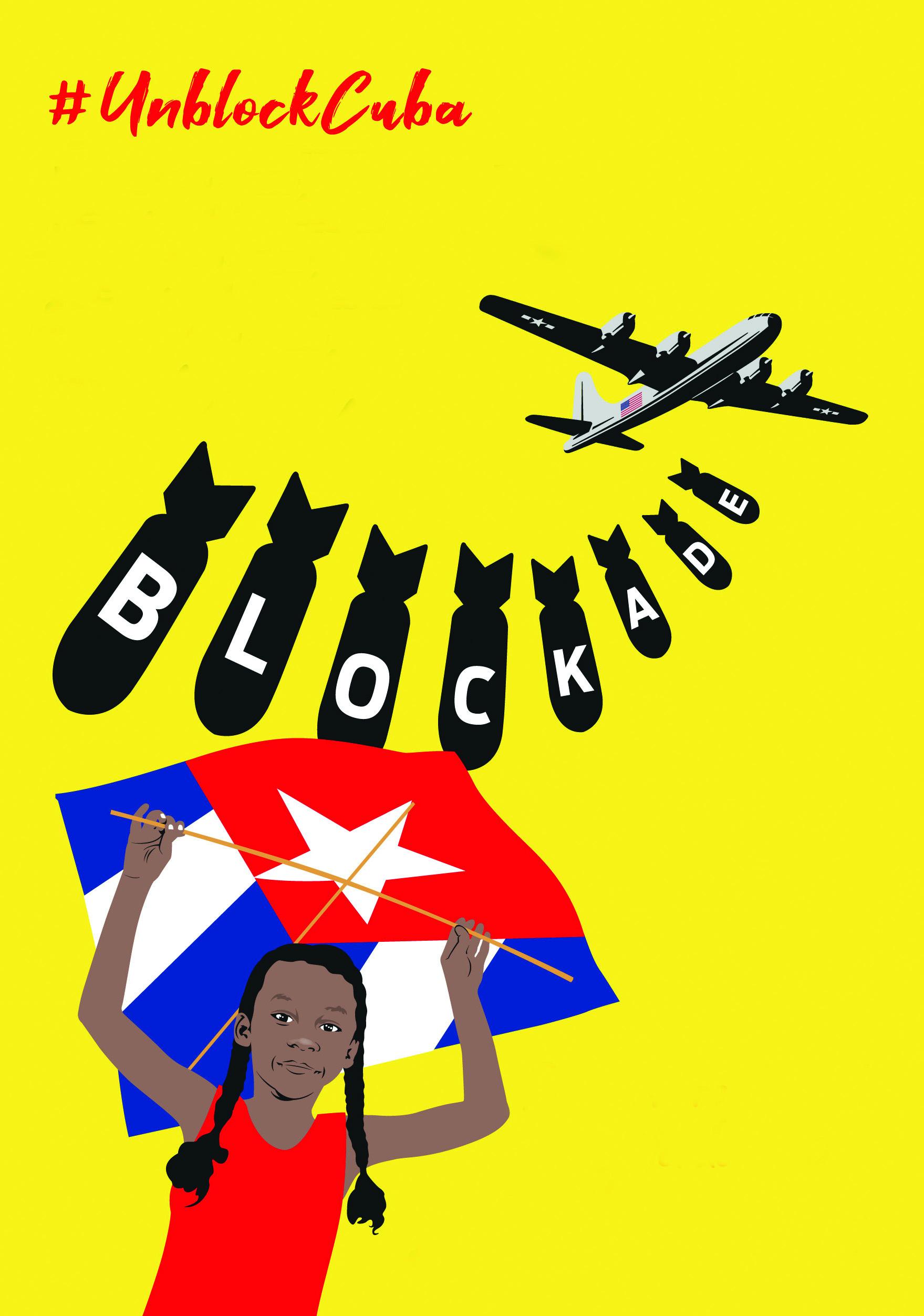 UnblockCuba 4 – affischbild, gul bakgrund